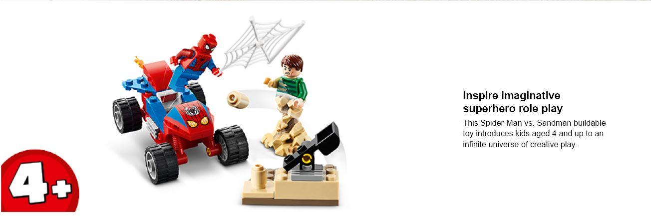 Spiderman vs sandman lego