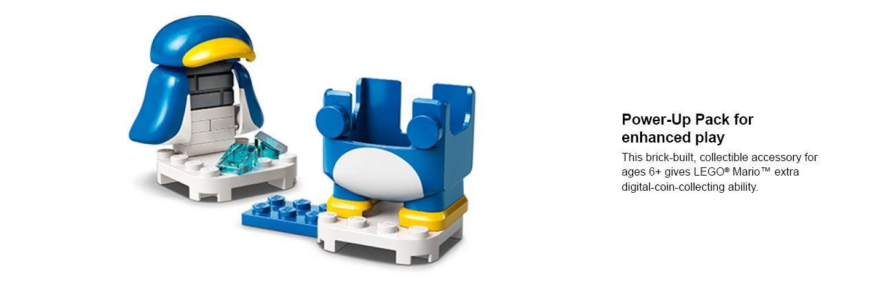 montrant un pingouin en cours de construction