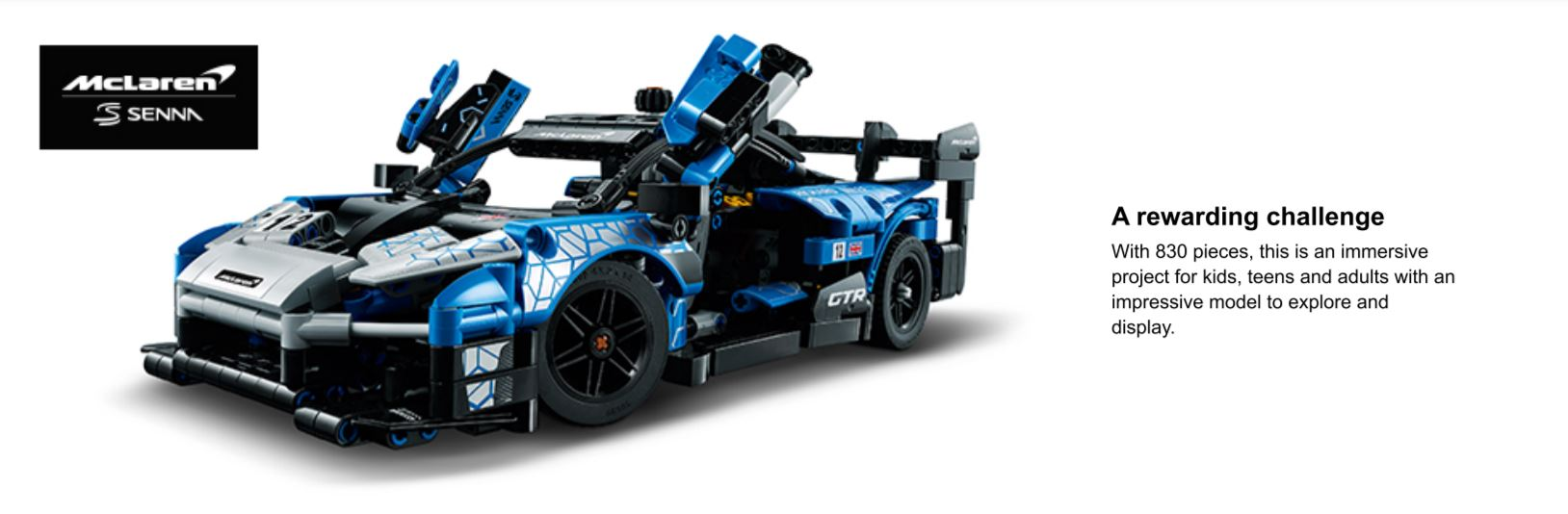 lego mclaren car shot