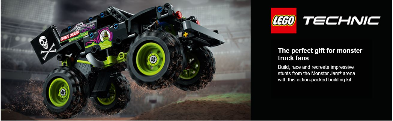 shows lego car action shot