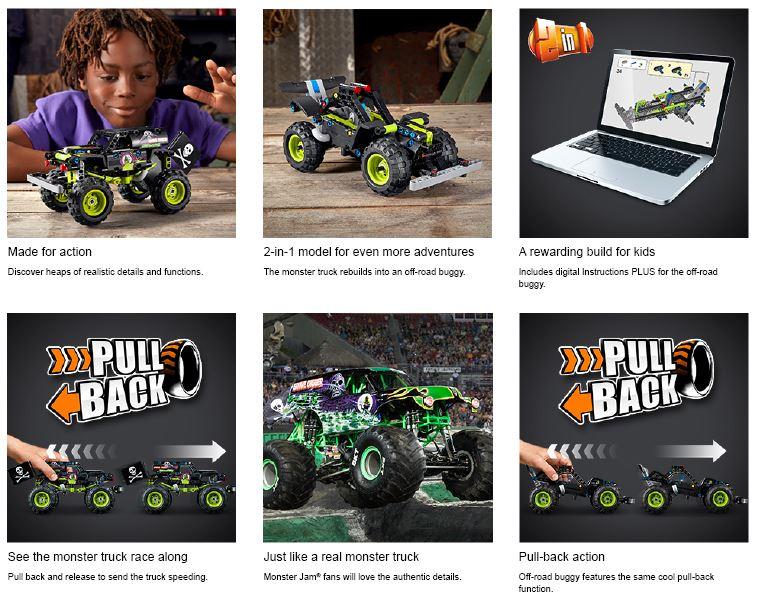 montre les caractéristiques de la voiture lego