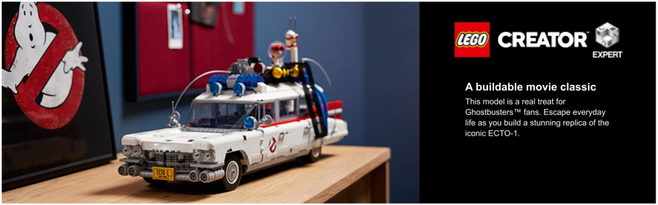still shot of ghostbusters lego car