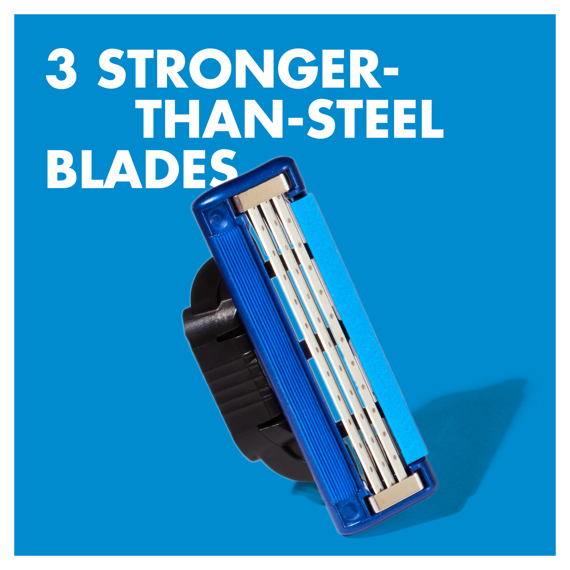3 stronger than steel blades