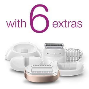 1 device. 6 extras