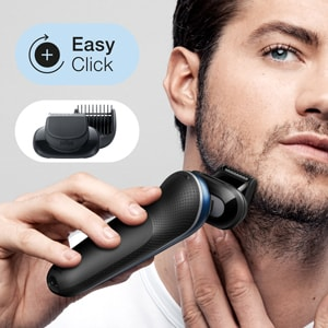 Includes a Beard Trimmer attachment for beard styles from 0.5mm to 7mm