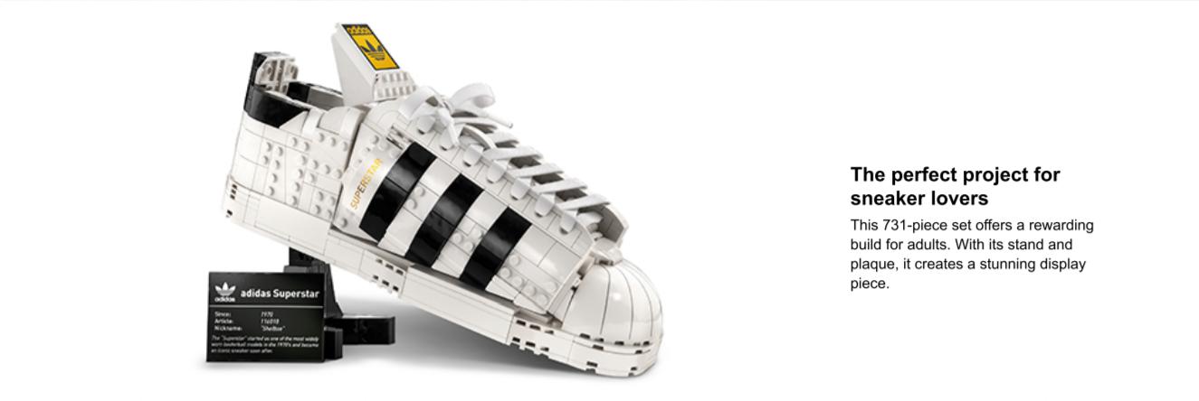 lego adidas superstar shoe model