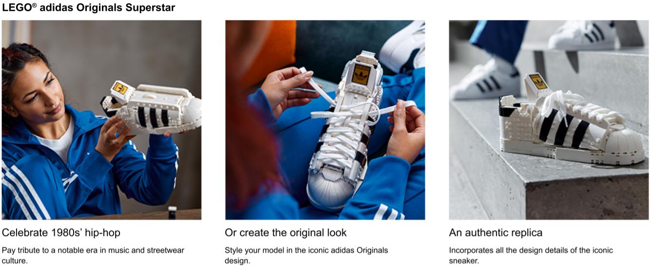 lego adidas superstar apps