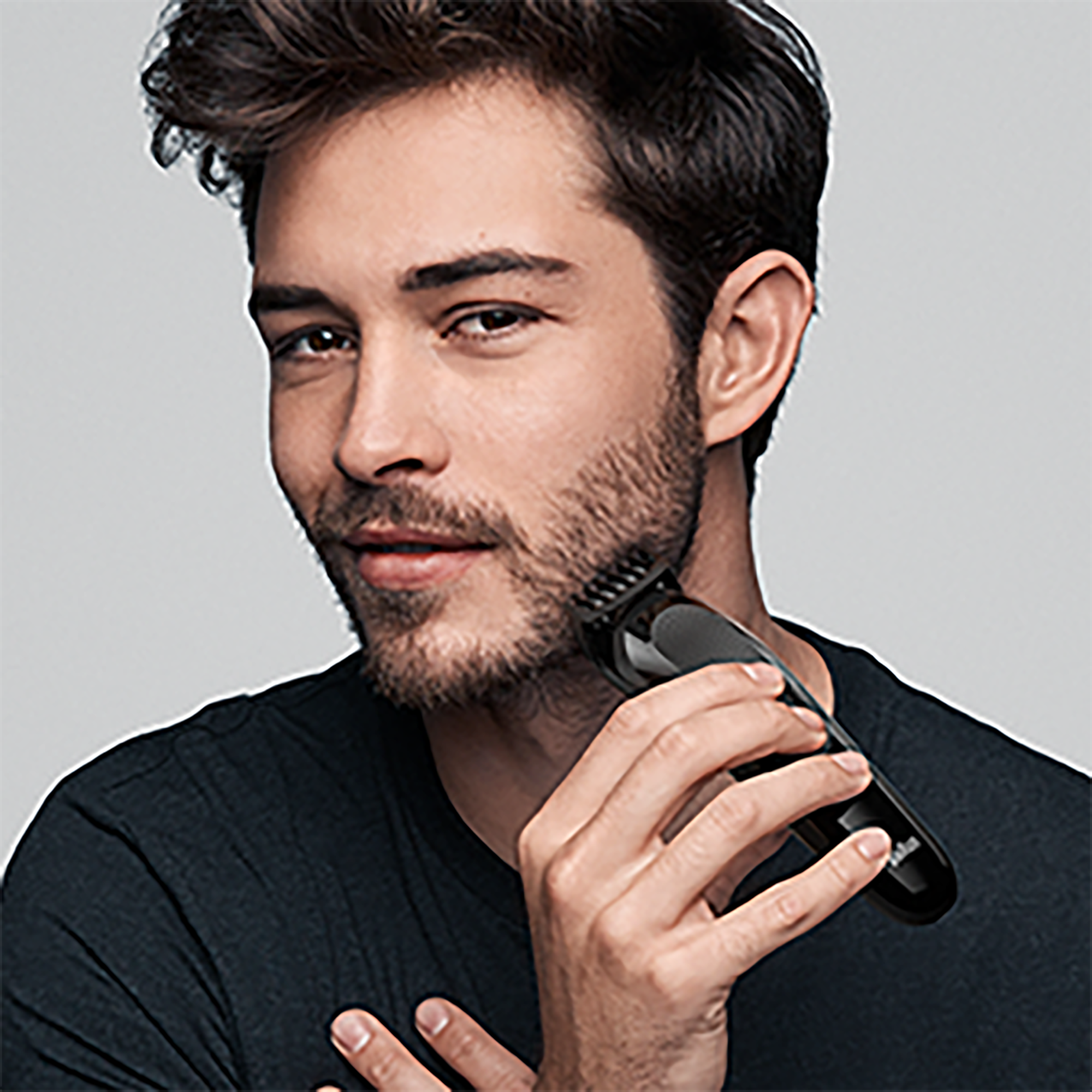Short to medium beards
