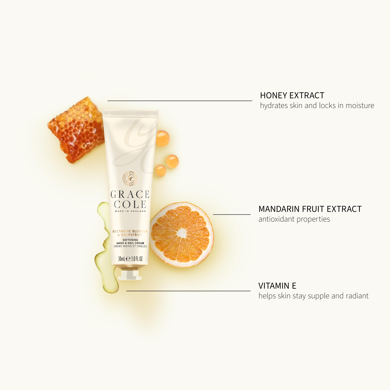 Nectarine Blossom & Grapefruit Hand & Nail Cream