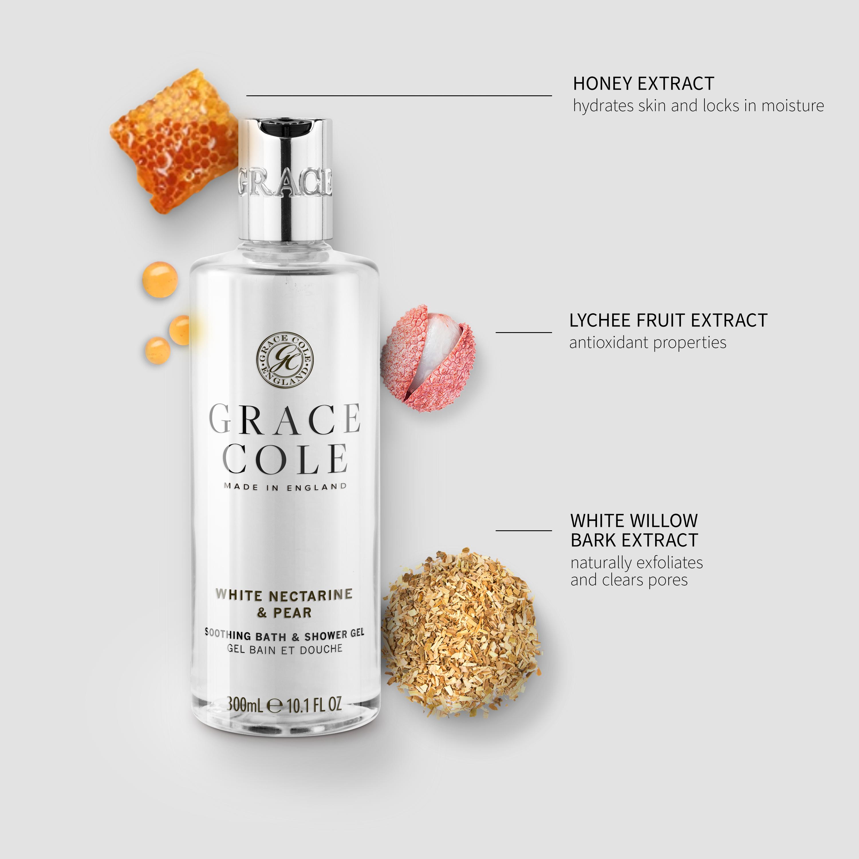White Nectarine & Pear Bath & Shower Gel