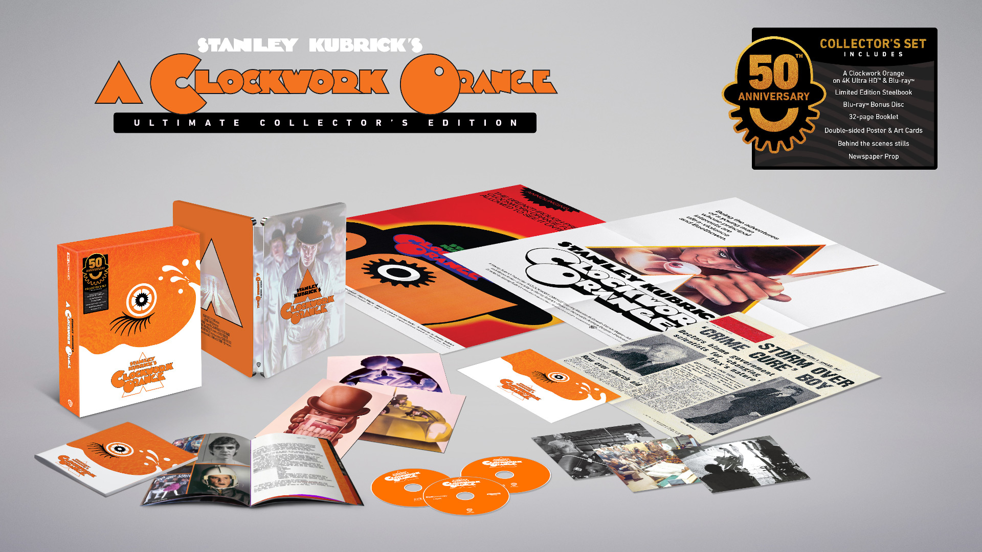 Zavvi Exclusive A Clockwork Orange Ultimate Collector's Edition Steelbook