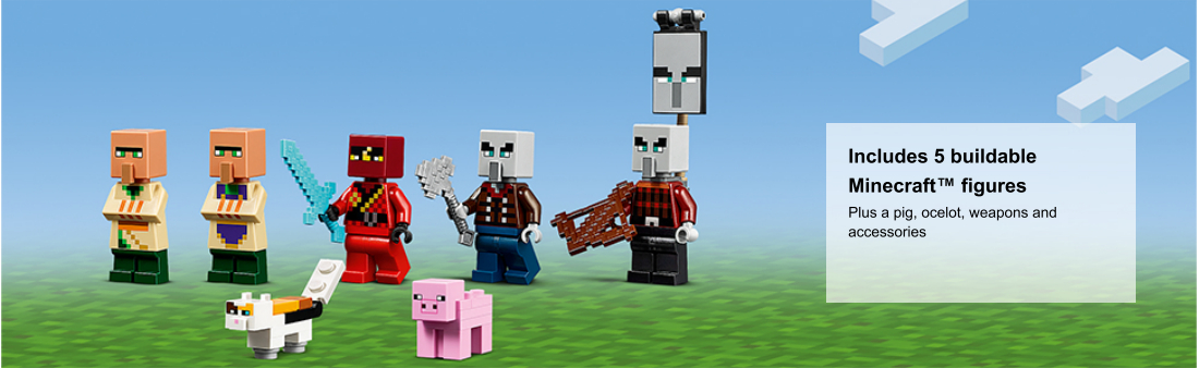 close up of Minecraft minifigures