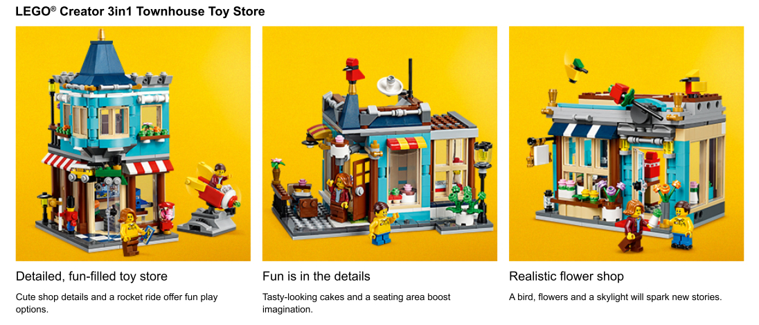 Close ups of Townhouse Toy Store