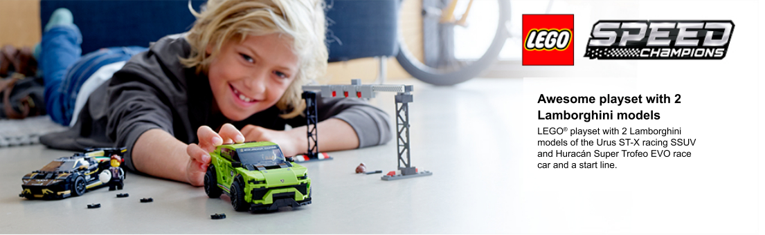 child playing with model