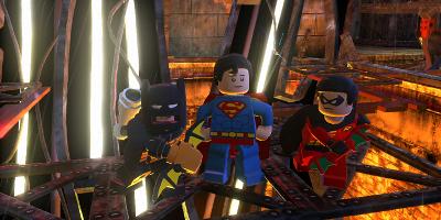 joker running behind batman