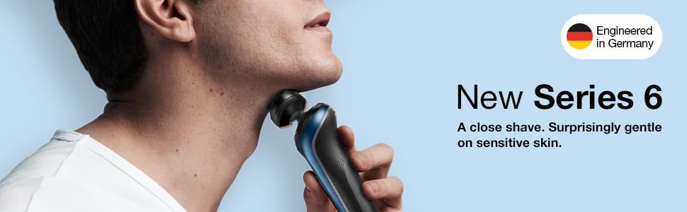 Series 5 Banner, Man Shaving