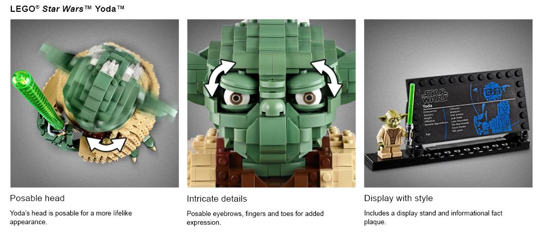 Gros plans de l'ensemble LEGO de la Guerre des étoiles