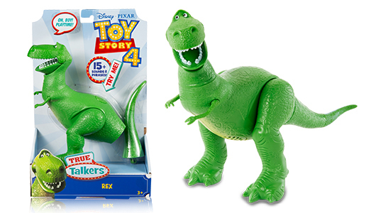 rex figure next to the packaging