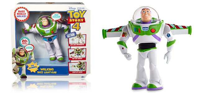 buzz figure next to packaging