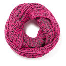 Impulse Women's Neon Knitted Snood - Pink