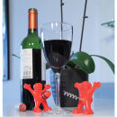 Happy Man Bottle Stopper and Screw Set