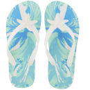 Miss Trish Women's Starfish Flip Flops - White/Blue