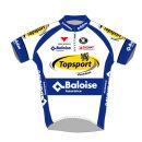 Topsport Vlaanderen Baloise Team Replica Short Sleeve Jersey - White/Blue