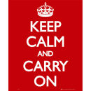 Keep Calm And Carry On - Mini Poster - 40 x 50cm