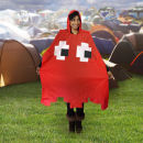 Retro Arcade Poncho Red
