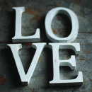 Nkuku Distressed Mango Wood Letters - Distressed White - C (15cm)