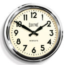 Giant Electric Clock - Chrome