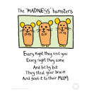 Edward Monkton Fine Art Print - Madness Hamsters