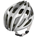 Carrera Pistard Road Helmet with Rear Light Gloss White/Silver