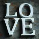 Nkuku Distressed Mango Wood Letters - Distressed White - S (15cm)