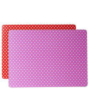 Place Mat Set Mini Dots - Pink & Red