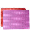 Place Mat Set Mini Dots - Pink & Red