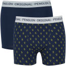 Lot de 2 Boxers Original Penguin - Marine / Or