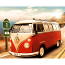 VW Californian Camper Route One - Mini Poster - 40 x 50cm