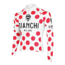 Bianchi Men's Leggenda Celebrative Long Sleeve Jersey - Polka Dot