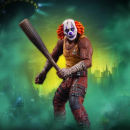 Batman Arkham City Series 3 - Clown Thug Action Figure with Bat