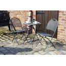 Cafe Latte Table and 2 Chairs Set - Iron Grey