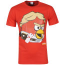 Angry Birds vs Star Wars Mens Luke Classic Portrait T-Shirt - Red