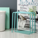 Magazine Rack - Turquoise
