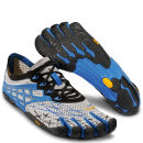 Vibram 5 Fingers Men's Seeya LS Running Trainers - Light Grey/Blue/Black