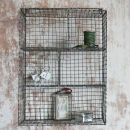 Nkuku Locker Room Shelf - Distressed Grey / Cream - 46cm(W) x 66cm(H) x 18cm(D)