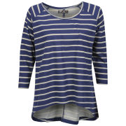 Brave Soul Women's Fraya Striped Top - Cream/Navy