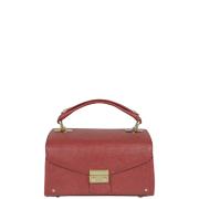 Mischa Barton Etienne Mini Box Shoulder Bag - Red