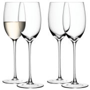 LSA Wine White Wine Glasses - Clear - Set of 4