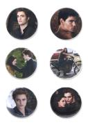 Twilight New Moon - Pin Set Of 6 Edward, Jacob And Bella