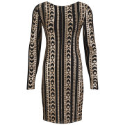 VILA Women's Beady Deep Back Dress - Gold
